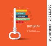 key to success flat design...   Shutterstock .eps vector #242121910