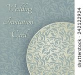 vintage background  greeting... | Shutterstock .eps vector #242122924