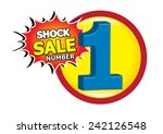 shock sale vector | Shutterstock .eps vector #242126548