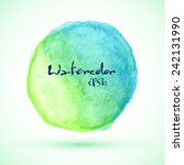blue and green watercolor... | Shutterstock .eps vector #242131990