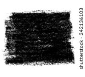 charcoal texture square banner. ... | Shutterstock .eps vector #242136103