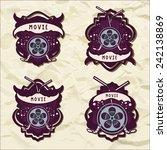 set of movie vector logotypes. | Shutterstock .eps vector #242138869
