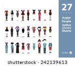 clothes set 3 | Shutterstock .eps vector #242139613