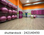 interior of equipped gym at... | Shutterstock . vector #242140450