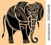elephant.silhouette of elephant. | Shutterstock .eps vector #242140648