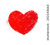 grunge heart   Shutterstock . vector #242143663