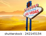 welcome to fabulous las vegas... | Shutterstock . vector #242145154