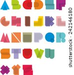 a vector illustration alphabet  ... | Shutterstock .eps vector #242146180