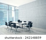 conference room interior with a ... | Shutterstock . vector #242148859