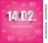 happy valentines day   Shutterstock .eps vector #242149663