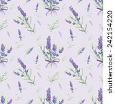 retro pattern with lavender... | Shutterstock . vector #242154220