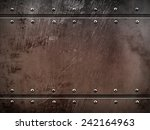 rusty metal plate  | Shutterstock . vector #242164963