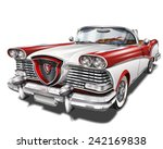 retro car. | Shutterstock .eps vector #242169838