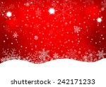 red christmas background.... | Shutterstock .eps vector #242171233
