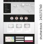 modern clean website template... | Shutterstock .eps vector #242172760