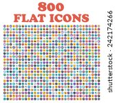 Set Of 800 Flat Icons  For Web  ...