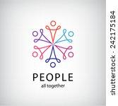 vector teamwork  social net ... | Shutterstock .eps vector #242175184