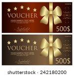 voucher  coupon  gift... | Shutterstock .eps vector #242180200