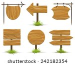 wooden pointers and signs.... | Shutterstock . vector #242182354