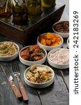 various types of tapas   Shutterstock . vector #242183269
