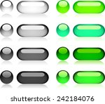 vector color buttons for web... | Shutterstock .eps vector #242184076