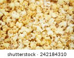 popcorn  snacks a background   Shutterstock . vector #242184310