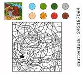 Color By Number  Hedgehog