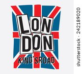 London Flag  Typography  T...