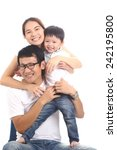 family portrait with white... | Shutterstock . vector #242195800