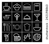 set of simple icons for bar ... | Shutterstock .eps vector #242198863