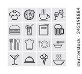 set of simple icons for bar ... | Shutterstock .eps vector #242198884