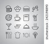 set of simple icons for bar ... | Shutterstock .eps vector #242198890