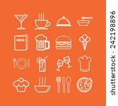 set of simple icons for bar ... | Shutterstock .eps vector #242198896