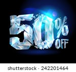 50   off sale coupon ice design.