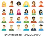 set of people icons in flat... | Shutterstock .eps vector #242202490