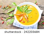 chicken curry thai food. | Shutterstock . vector #242203684