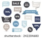set of retro colored sale... | Shutterstock .eps vector #242204683