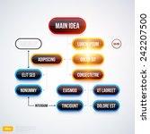 modern organization chart... | Shutterstock .eps vector #242207500