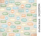 speech bubble background with... | Shutterstock . vector #242209594