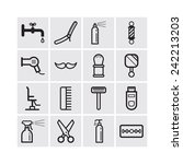 set of simple icons for... | Shutterstock .eps vector #242213203