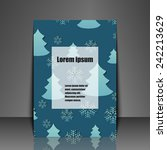 template flyer with winter... | Shutterstock .eps vector #242213629