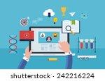 flat design modern vector... | Shutterstock .eps vector #242216224