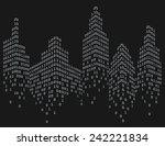 binary code in form of... | Shutterstock .eps vector #242221834