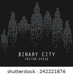 binary code in form of... | Shutterstock .eps vector #242221876