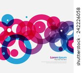 geometric colorful circles... | Shutterstock .eps vector #242226058