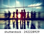 business people meeting seminar ... | Shutterstock . vector #242228929