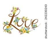 wedding or valentine's day... | Shutterstock . vector #242230243