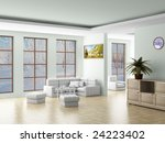 interior of a living room. 3d... | Shutterstock . vector #24223402