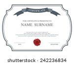 vector certificate template.   Shutterstock .eps vector #242236834
