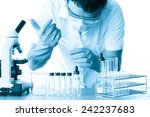 scientist with equipment and...   Shutterstock . vector #242237683